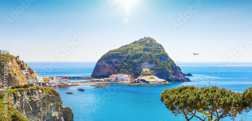 Spoed Foto op Canvas Cappuccino Small village Sant'Angelo on Ischia island, Italy