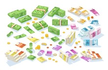 Collection Of Isometric Cash M...