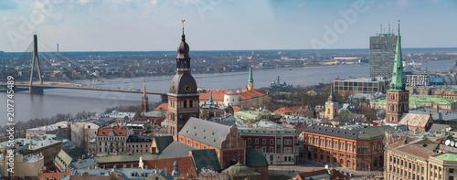 Riga, die Hauptstadt Lettlands, aus der Vogelperspektive