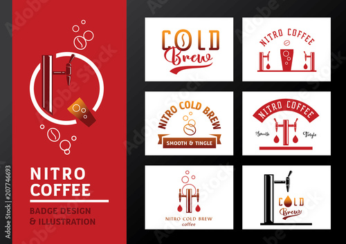 Fotografía nitro coffee badge  design and illustration