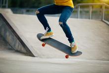 Skateboarder Skateboarding On ...