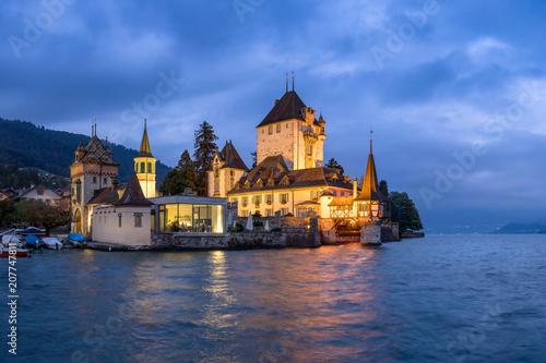 Keuken foto achterwand Historisch geb. Schloss Chillon am Genfersee, Schweiz