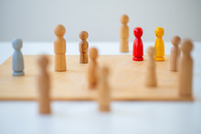 Systemic Board, Family Therapy, Concept, Psychotherapy Wooden Figures, People, Team, Family Constellation, Posing