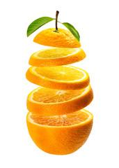 Floating orange slice
