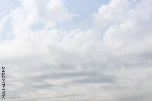 Obraz Images of Blue sky with white clouds. Can be used show your products for poster. Nature concept.  - fototapety do salonu
