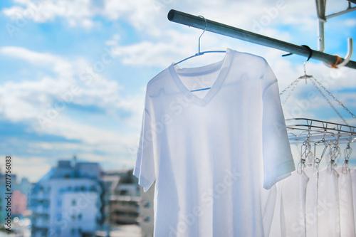 Fotografía  洗濯、タオル、家事、Tシャツ、天気