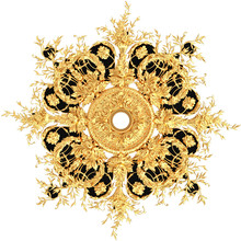 3D Rendering Gold Stucco Ceiling