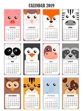 Calendar 2019 With Pig,sheep,f...