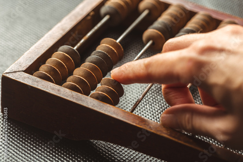 Vintage abacus close up Canvas-taulu