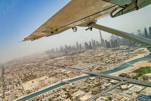 Fototapeta Widok z lotu ptaka Dubaj śródmieście