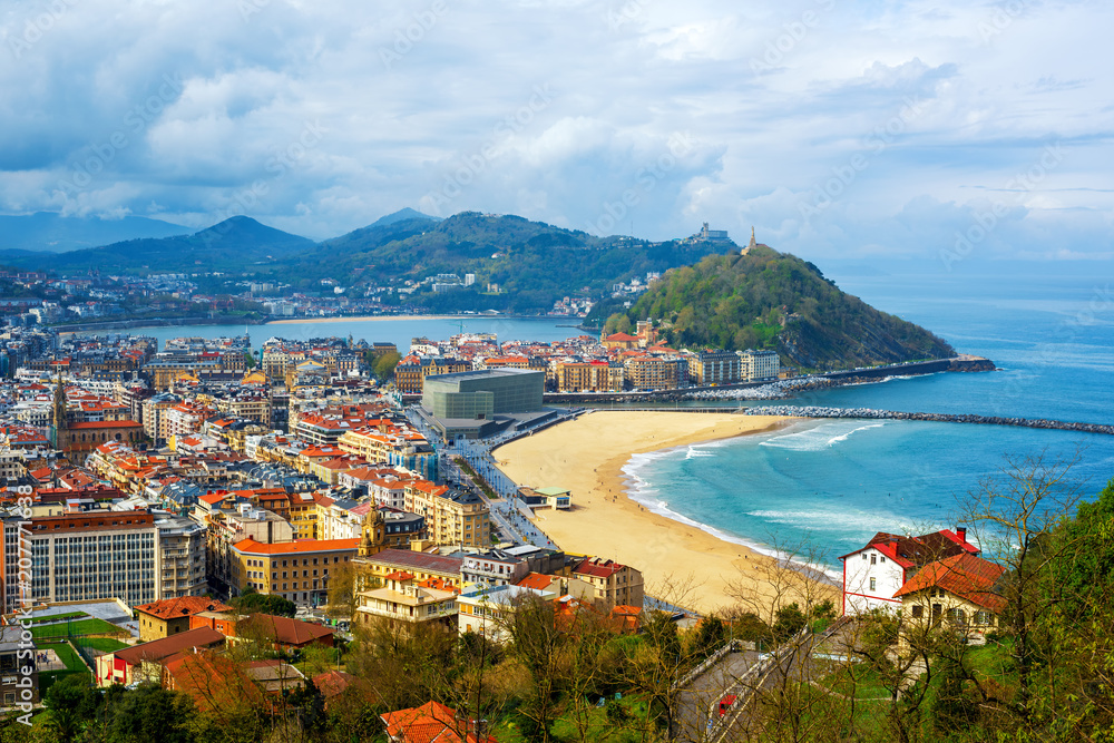 Fototapety, obrazy: San Sebastian - Donostia city, Basque country, Spain