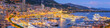 canvas print picture - Monaco Panoramic View at Dusk