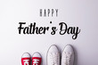 canvas print picture - Fathers day greeting card concept. Flat lay.