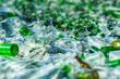 Leinwanddruck Bild - background of recycle pieces of broken glass