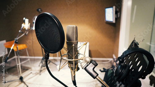 Photo Microphone with pop filter and shock mount