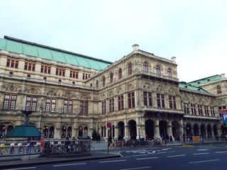 Fototapeta na wymiar Vienna, Austria - December 16, 2017: Vienna State Opera House (Staatsoper)