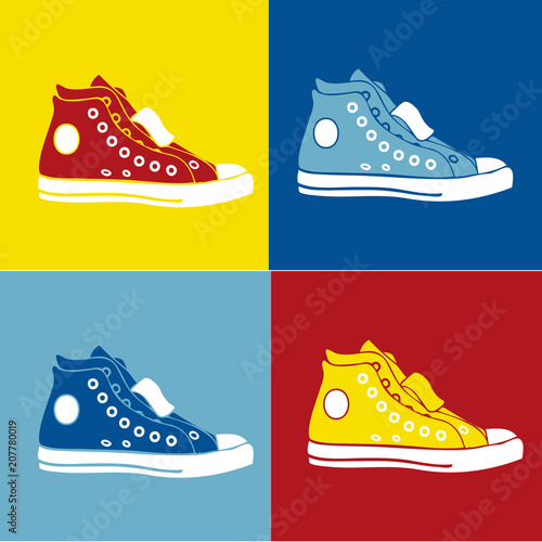 Zapatillas (arte pop) Canvas Print