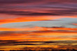 Spectacular colorful sunset skies. Nature abstract background.
