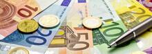 Euro Banknoten - Banner