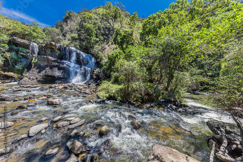 Foto op Plexiglas Zuid-Amerika land La Periquera waterfalls of Villa de Leyva Boyaca in Colombia South America