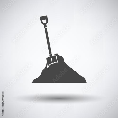 Icon of Construction shovel and sand Fototapet