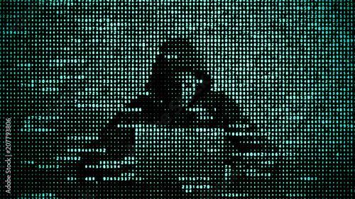 Fotografía  Hacker in data security concept
