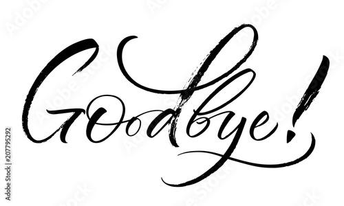 Goodbye lettering Canvas-taulu