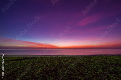 Poster Violet Beautiful sky at twilight time