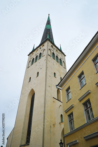 view of the Church of St. Olaf in Tallinn Poster