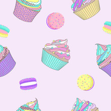 Seamless Pattern With Macaron ...