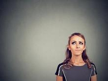 Skeptic Woman Making Choice