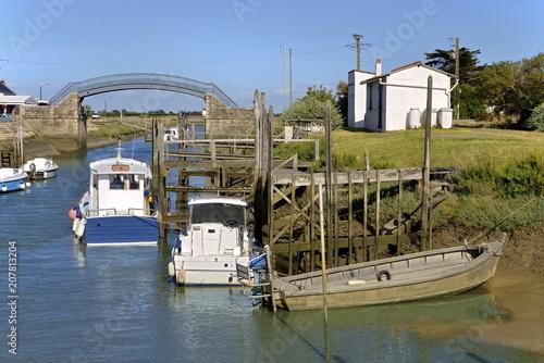 Foto op Plexiglas Poort Oyster port of Les Moutiers en Retz a commune in the Loire-Atlantique department in western France