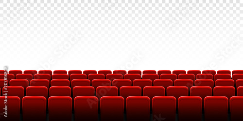 Creative vector illustration of movie cinema screen frame and theater interior Fotobehang