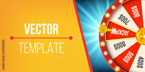 Photo  Creative vector illustration of 3d fortune spinning wheel