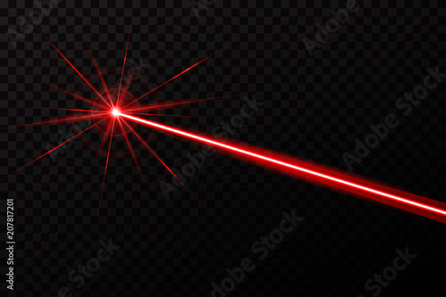 Creative vector illustration of laser security beam isolated on transparent background Wallpaper Mural