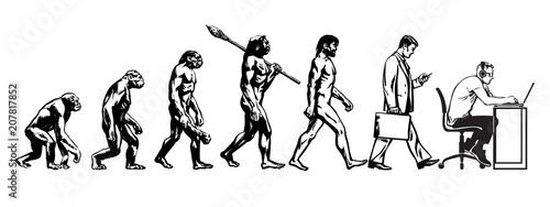 Fotografia Theory of evolution of man