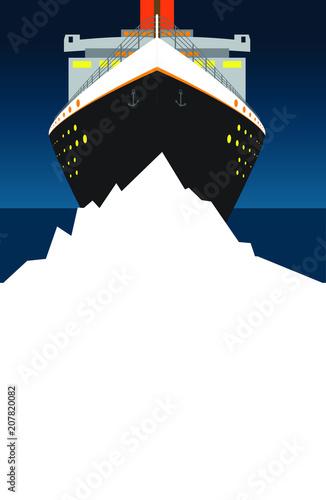 Photo titanic and iceburg