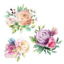 Beautiful Watercolor Floral Bo...