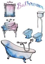 Sketch Of Bathroom Furniture I...