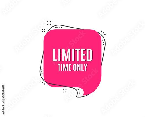 Obraz na plátně Limited time symbol