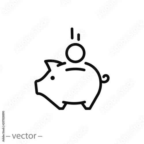 Fotografía  piggy bank icon vector
