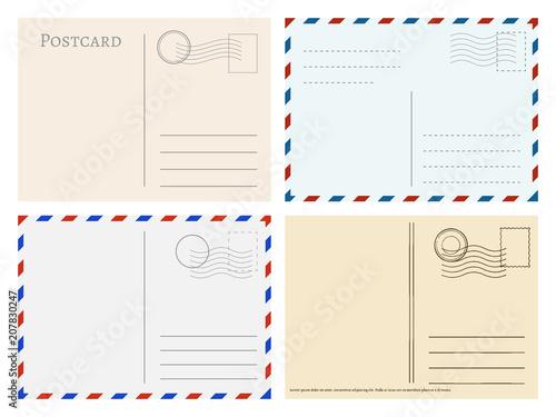 Fotomural Travel postcard templates