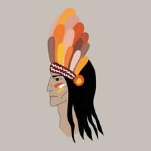 Native American Profile Silhou...