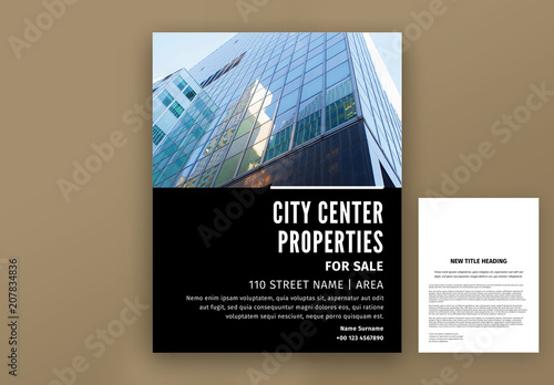 real estate flyer layout buy this stock template and explore