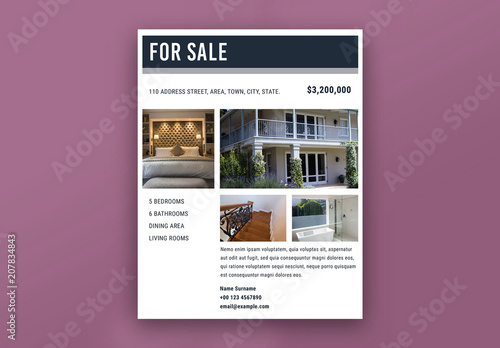 real estate property flyers