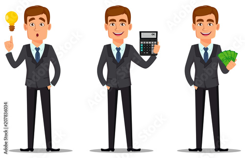 Fotografía Handsome banker in business suit