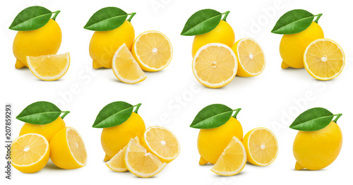 lemon fruit leaf