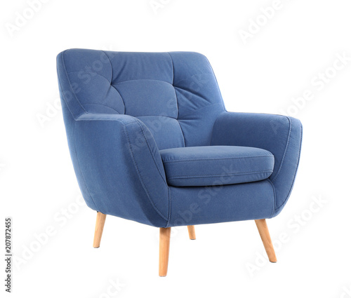 Papel de parede Comfortable armchair on white background. Interior element
