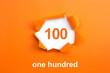 Leinwanddruck Bild - Number 100 - Number written text one hundred