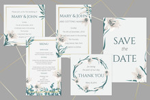 Wedding Cards With White Lilies